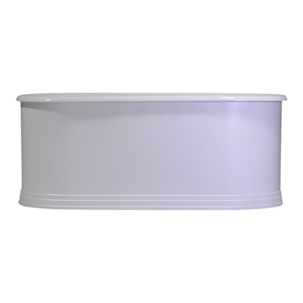 "Any Solid Color 'Kelvinside66' 66"" Cast Iron Double Ended Metal Skirted Tub with Penhaglion Step Base and Drain"