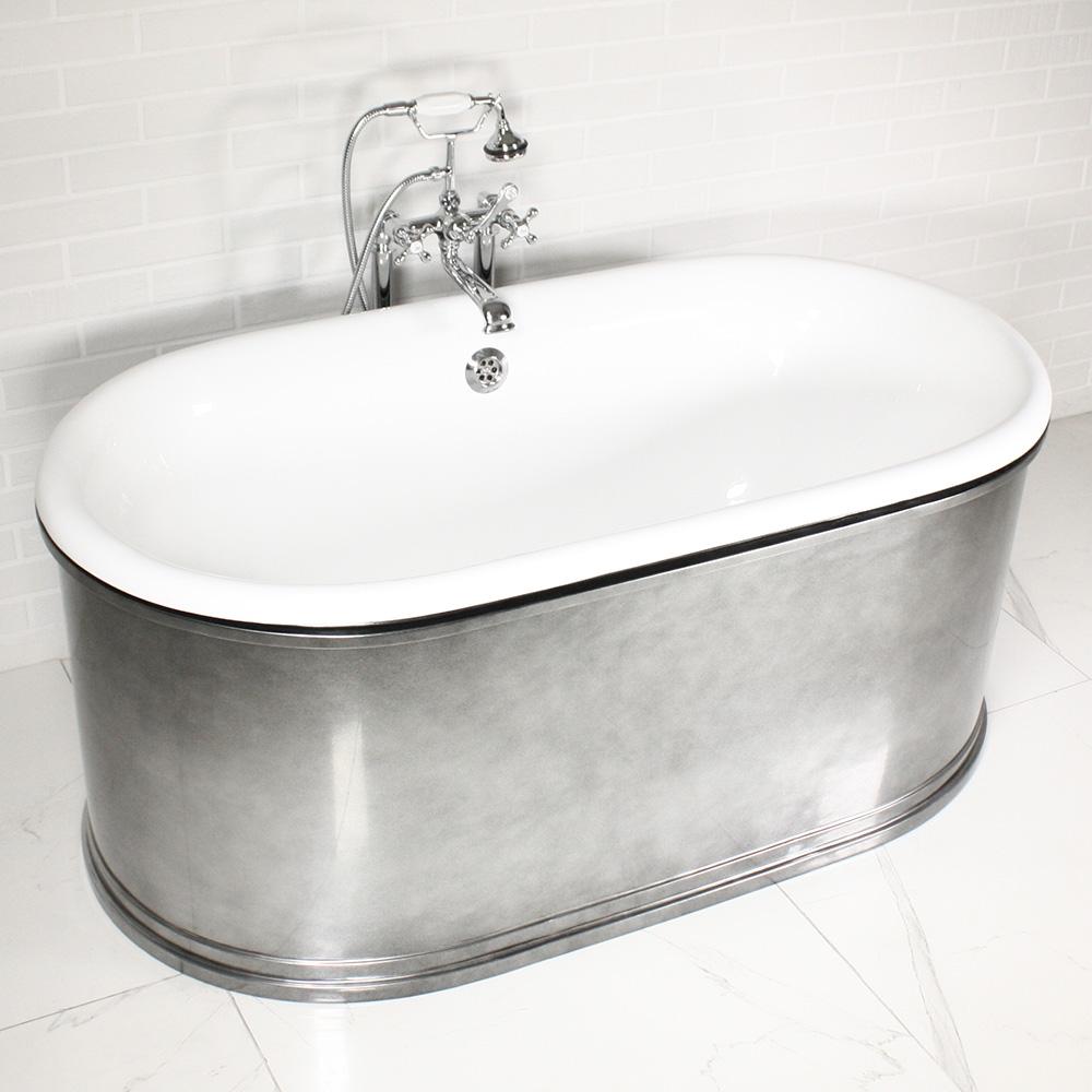 top tub double bath modern freestanding itm ended designer luxury roll bathroom