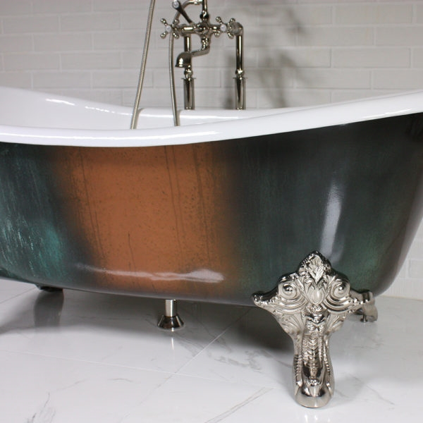 The Lanercost73 73 Cast Iron French Bateau Clawfoot Tub With