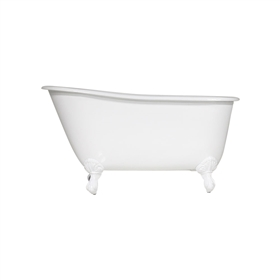"Any Solid Color 'Lapley-54' 54"" All Inclusive Cast Iron Swedish Slipper Clawfoot Tub Package"