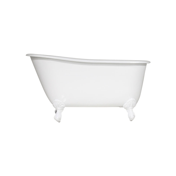 "Any Solid Color 'Lapley-54' 54"" Cast Iron Swedish Slipper Clawfoot Tub with Drain"