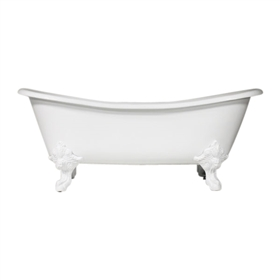 'The Leonard' 73 Vintage Designer Cast Iron Clawfoot Bateau Bathtubs from Penhaglion.