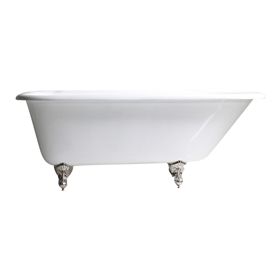 "'The Maenan' 66"" Cast Iron Classic Style Clawfoot Tub with Fixtures"