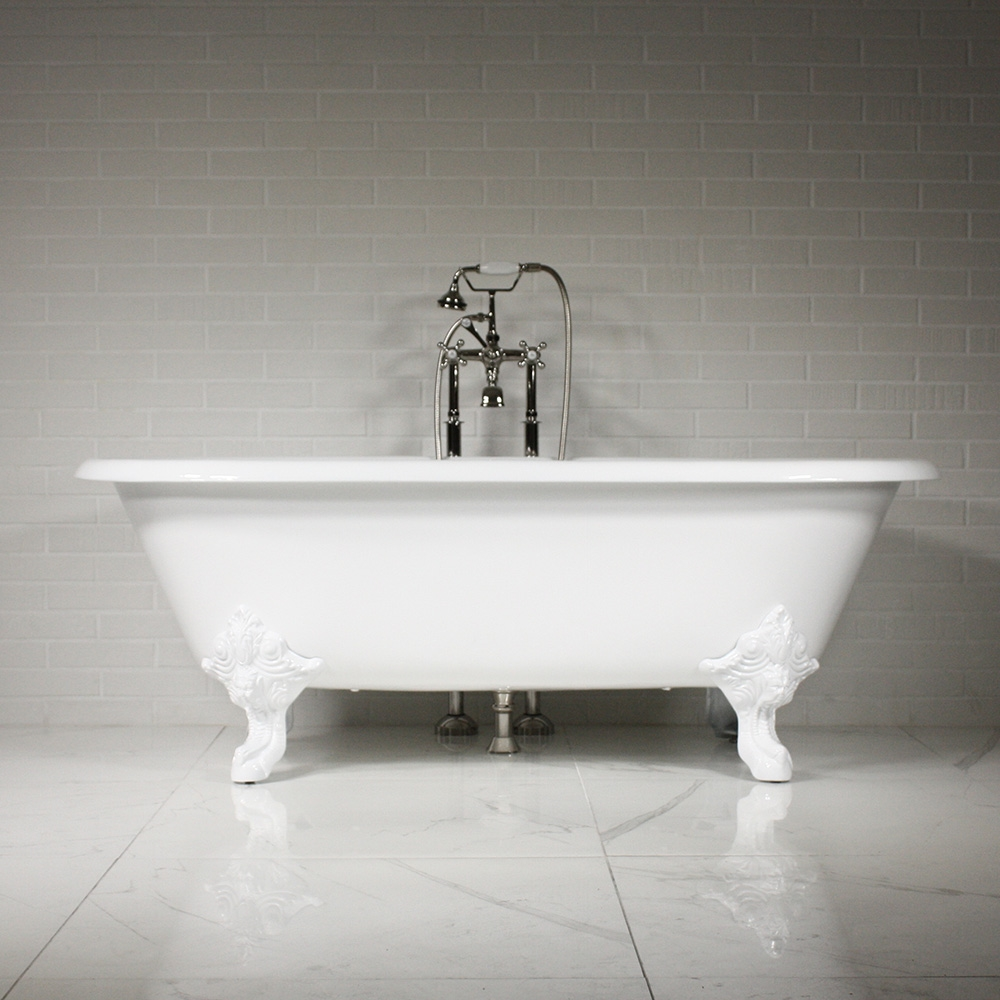acrylic freestanding eden contemporary ended brass kingston product double bath tub aqua inch
