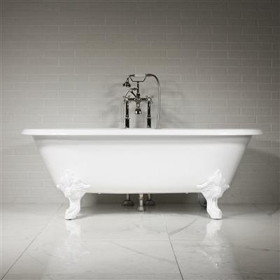 'The Minster' 73 Vintage Designer Cast Iron Clawfoot Bateau Bathtubs from Penhaglion.