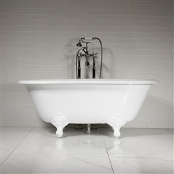 'The Sawley' 61 Vintage Designer Cast Iron Clawfoot Bateau Bathtubs from Penhaglion.