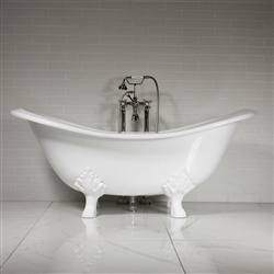 'The Smithfield68' 68 Vintage Designer Cast Iron Clawfoot Bateau Bathtubs from Penhaglion.