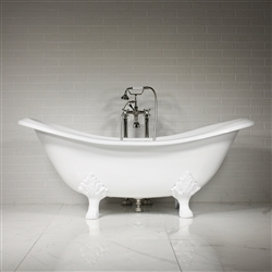 'The Smithfield' 73 Vintage Designer Cast Iron Clawfoot Bateau Bathtubs from Penhaglion.