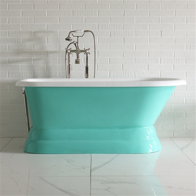 "'The Talley' 60"" Cast Iron Classic Style Pedestal Tub and Drain"