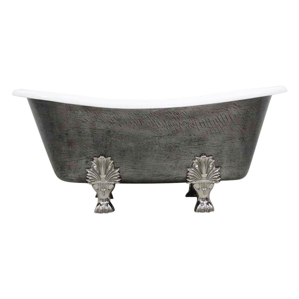 The Thornton 68 Cast Iron French Bateau Clawfoot Tub With A Hand