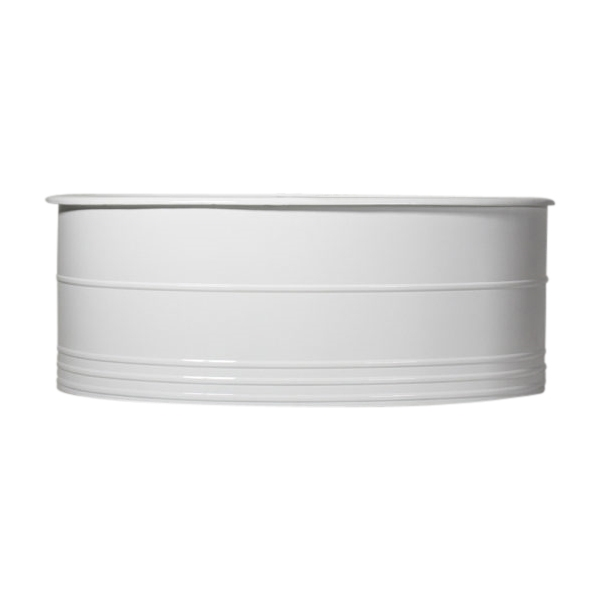 "Any Solid Color 'Thurgarton' 65"" Oval Cast Iron Double Ended Tub and Drain"
