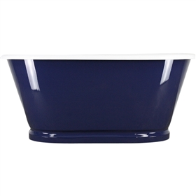 "<br>'The Weybourne' 61"" Cast Iron Double Ended Metal Skirted Tub with Base Trim in Moonlight Blue Exterior and Drain<BR>"