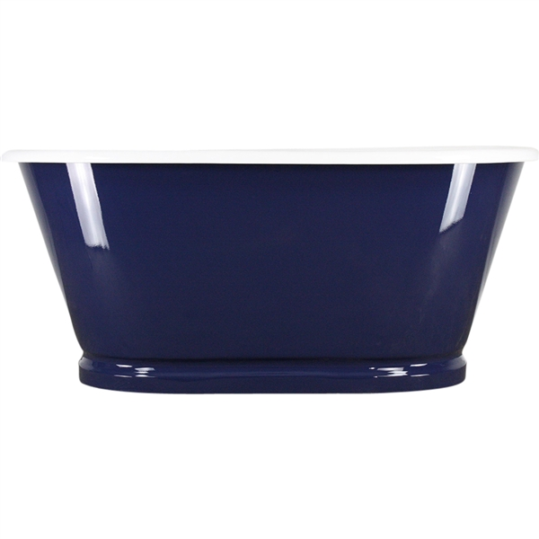 "Any Solid Color 'Weybourne' 61"" Cast Iron Double Ended Metal Skirted Tub with Base Trim and Drain"