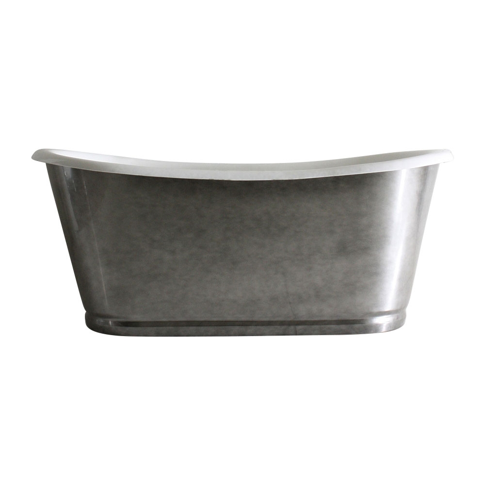 cast iron clawfoot tub value.  The Whitby59 59 Cast Iron French Bateau Tub with Aged Chrome Exterior and Drain