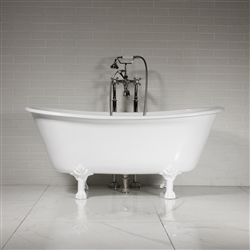 "'The York59' 59"" Vintage Designer Cast Iron Clawfoot Bateau Bathtubs from Penhaglion."