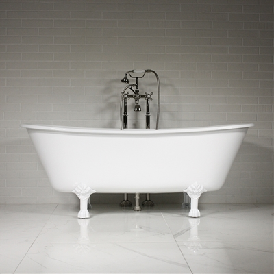 "'The York' 68"" Vintage Designer Cast Iron Clawfoot Bateau Bathtubs from Penhaglion."
