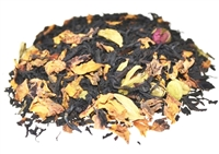 Black floral blend with spices, vanilla and rosebuds