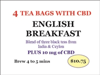 Tea bags with CBD English Breakfast