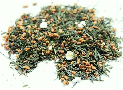 Genmaicha is a green tea with roasted and popped rice