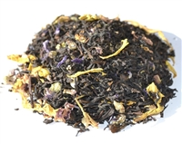 Floral blend of blossoms and petals with three black teas
