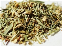 Ginger Lime caffeine-free rooibos blend is great iced or hot