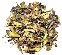 Organic white tea with peach flavor