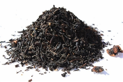 Raspberry is a flavored black tea that is good hot or iced.