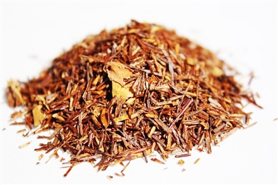 Raspberry Vanilla flavored rooibos is naturally caffeine-free.