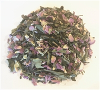 Rose peppermint blend with a white & green tea base