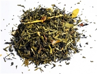 Rose of the Orient is a green tea flavored with healthy rose hips.