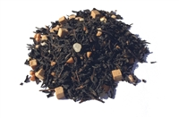 Salty caramel flavored black loose-leaf tea