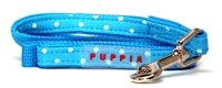 Dotty Blue Dachshund Lead
