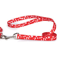 Red Stars & Bones Dachshund Leash