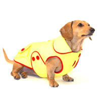 Yellow Blizzard Dachshund Parka with Thinsulate