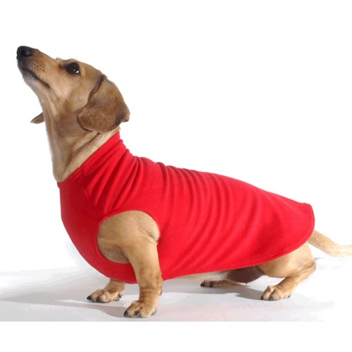 Cherry Red Dachshund Fleece Sweater