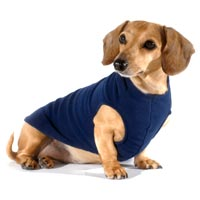 Navy Blue Dachshund Fleece Sweater