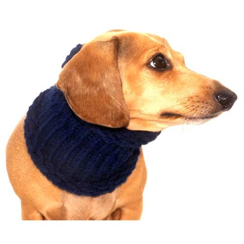 Navy Blue Noodle Boodle Dachshund Neck Warmer