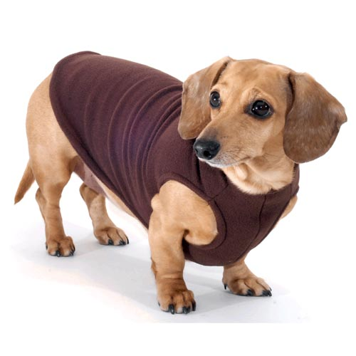 Chocolate Dachshund Fleece Sweater