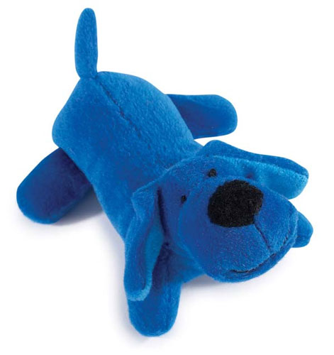 Blue Squeaky Puppy Toy
