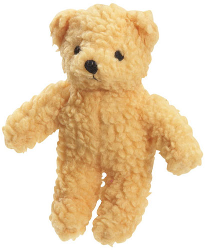 Golden Squeaky Berber Bear Toy
