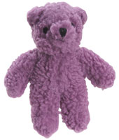 Violet Purple Squeaky Berber Bear Toy
