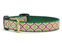 Green and Pink Genie Dachshund Collar