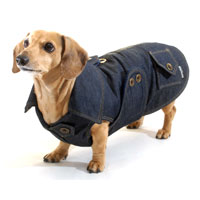 Dachshund Denim Coat with Thinsulate