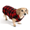 Reversible Buffalo Plaid Dachshund Coat