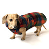 Reversible Stadium Plaid Dachshund Coat