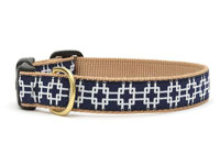 Night Navy Geometry Dachshund Collar