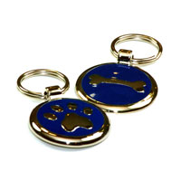 Navy Blue Dachshund ID Tags