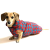 Reversible Cheerful Check Dachshund Coat