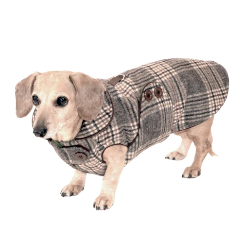 Reversible Donegal Plaid Dachshund Coat