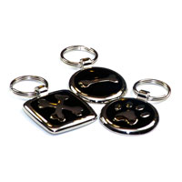 Jet Black Dachshund ID Tags